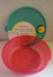 Tupperware Crystal Wave Microsteamer Microwave Cooker Steamer Tray New With Lid