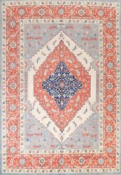 Geometric Heriz Serapi Oriental Area Rug Hand-knotted Classic 9and039x12and039 Wool Carpet