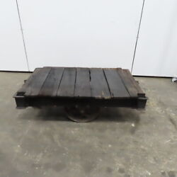 Antique Industrial Factory Warehouse Railroad Coffee Table Cart 30x48x16h