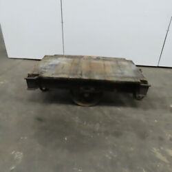 Antique Industrial Factory Warehouse Railroad Coffee Table Cart 30x48