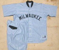 Actual Use Autographed 1923 Tbtc Brewers Uniform High And Low Jersey Pants Mlb