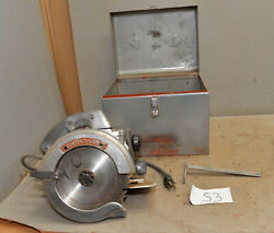 Porter Cable 7 Circular Saw Model 115 Collectible Heavy Duty And Metal Case S3