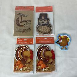 New-vintage Thanksgiving Greeting Cards-lot Of 5-4 Pkgs Of 8 Cards-1 Notelet