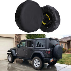 Spare Tire Wheel Cover 17inch Cover 32-34 For Jeep Wrangler Jl Camper Trailer