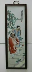 Chinese Beautiful Famille Rose Porcelain Characters Paintings Man And Women