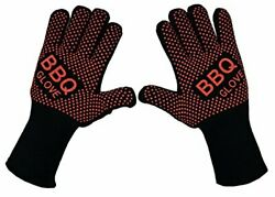 Bbq Grill Oven Gloves - Fireproof Insulated Heat Resistant Mitt For Barbecue ...