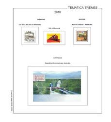 Stamp Pages Trains - Filkasol Themed - Mounted - Tomo Xv
