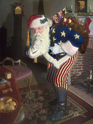 Morrissey Promise Of Peace And Tranquility Father Christmas Giclee On Cvs 21x28