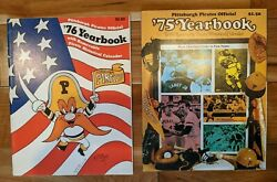 1975 And 1976 Pittsburgh Pirates Yearbook Nmmt Stargell Parker Oliver Bicentennial