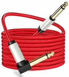 Guitar Cable 6ft 1/4 Inch Ts Right Angle To Straight Guitar Instrument Cord Elec