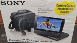 Sony Dvp-fx811k Portable Dvd Player 8 Widescreen - Carry Case And Headphones