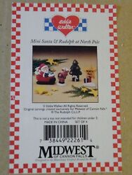 New In Box Eddie Walker Midwest Of Cannon Falls Christmas 4 Figurines Free Ship