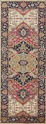 Vegetable Dye Heriz Serapi Oriental Runner Rug Wool Hand-knotted 2and039 8and039and039 X 8and039 1and039and039