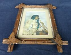 F.a. Rinehart Annie Red Shirt, Sioux - Native American Indian Framed Color Print