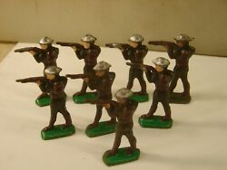 Vintage Barclay Manoil Wwi Army Military Lead Toy Soldiers Set Of 8 Lot 3