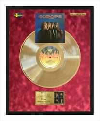 Europe Debut Vinyl Record Gold Metallized Record Mounted In Frame