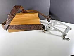 Vintage 1960and039s Renalde Horse Riding Bit And Hand Tooled Bridle No Reins