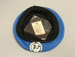 New British-issue United Nations Beret And Badge. Size 64cm. Un.
