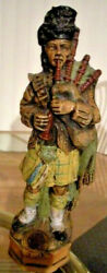 Wine Decanter From Mission Cellars California Bagpiper Figurine 18 Tall Vtg 60s