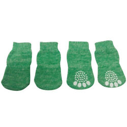 Dog Puppy Anti slip Socks For Tiny and Small Breeds Green S M L XL