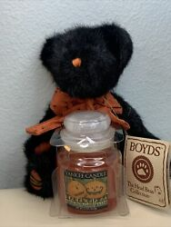 Yankee Halloween Trick or Treat Candle 3.7oz With Boyds Bear Boo