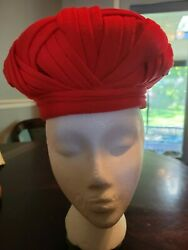 Vintage Christian Dior Womens Hat Red