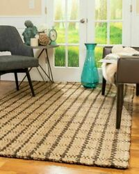 Natural Area Rugs Garret Thick Hand Woven Jute Area Throw Rug Carpet