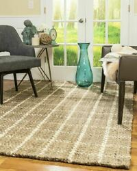 Natural Area Rugs Angelina Thick Hand Woven Jute Area Throw Rug Carpet