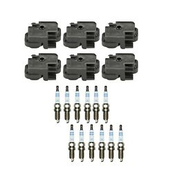 Genuine 6 Ignition Coils And 12 Spark Plugs Kit For Mercedes W203 R170 3.2l V6