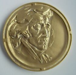 Polish Composer Frederic Chopin Pianist Music Medal 1980 Year Rare Gilding Type