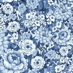 Blue and White Chinoiseries Fabric by Springs Creative Fabric Fabric By The Yd.
