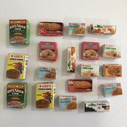 Vintage Play Food Cardboard Boxes Cereal Frozen Items Lot Of 18