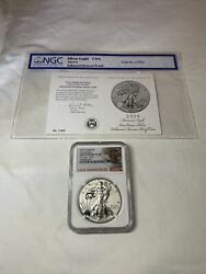 2019 S 1 Enhanced Reverse Proof American Silver Eagle Ngc Pf70- Early Releases