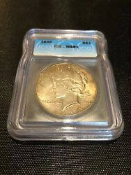 1926 Peace Us Mint Silver Dollar, Graded Ms61 By Icg, Lots Of Luster, Nice Coin