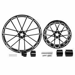 30 Front 18'' Rear Wheel Rim And Hub Fit For Harley Touring Road Glide 2008-2021