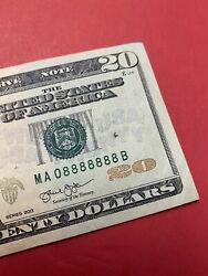 Fancy Serial Number 20 2013 Ma 0 8888888 B 7 In A Row Lucky 8 .