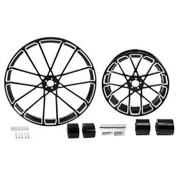 30 Front 18and039and039 Rear Wheel Rim Hub Dual Disc Fit For Harley Street Glide King 08+