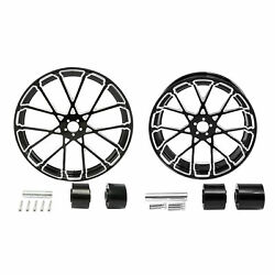 26 Front And 18'' Rear Wheel Rim Hub Fit For Harley Touring Road King 2008-up Us