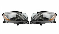 Left And Right Genuine Bi-xenon Headlights Lamps Pair Set For Mb W166 W/ Code 610