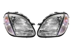 Left Right Genuine Halogen Headlights Lamps Pair Set For Benz R170 Slk-class Mb