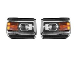 Left And Right Genuine Led Headlights Headlamps Assemblies For Gmc Sierra 2500 Hd