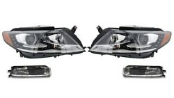Left And Right Genuine Fog And Xenon Curve Headlights Drl Kit For Vw Cc No Comf Bump
