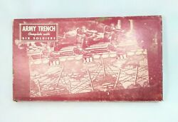 Army Trench Complete With Six Soldiers Built-rite Toys 8 Soldiers 1940 Seals