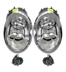 Left And Right Marelli Xenon Headlights Headlamps And Fog Lights Kit For R50 R52 R53