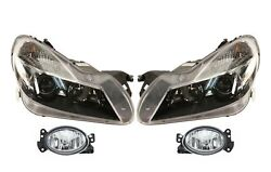 Left And Right Genuine Fog And Bi-xenon Headlights Kit For Mb R230 Amg Pkg Code 772