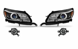 Left And Right Genuine Headlights Headlamps With Hid And Fog Lights Kit For Chevy Gm