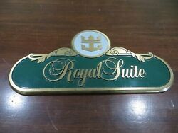 Sovereign Of The Seas Royal Suite Brass Sign 2278 Passenger Vesselcruise Ship