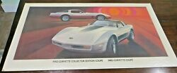 Gm Dealership Advertising Sign 1982 Corvette Collector Edition Coupe Chevrolet