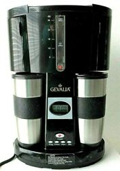 New | Gevalia Coffee For Two Coffee Maker | Black Model Ws-02a | Never Used