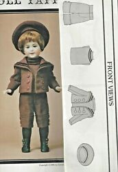 14.5and17antique French German Sfbj Boy Doll Sailor/middy Suit Shirt Hat Pattern